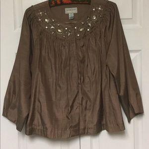 Victor Costa Size L Embellished Jacket